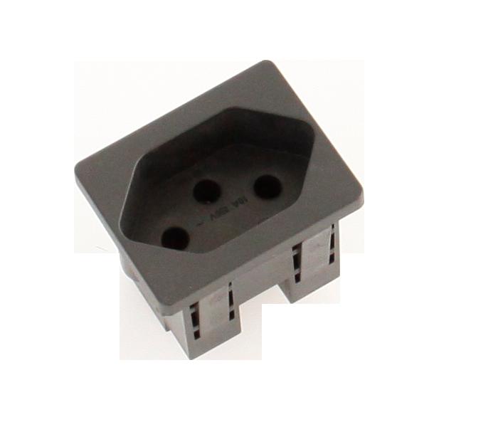 Steckdosenmodul FLF T13 schwarz 1×T13