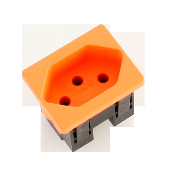 Steckdosenmodul FLF T13 orange 1×T13