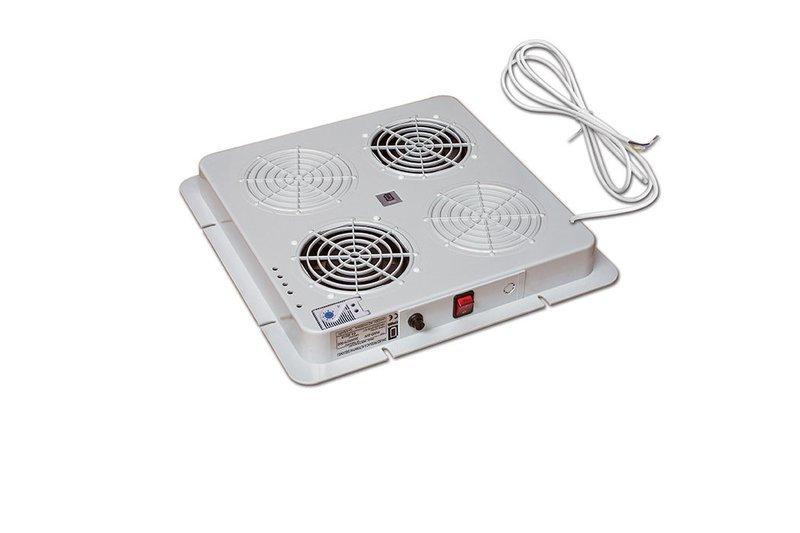 Dachlüfter mit 2 Lüfter mit Thermostat  (380 x 380 mm)