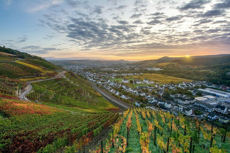 Herbstblick über Bad Neuenahr-Ahrweiler - Leinwand