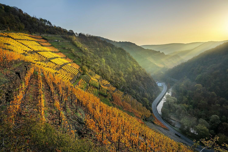 Sonnenaufgang Altenahr - Leinwand