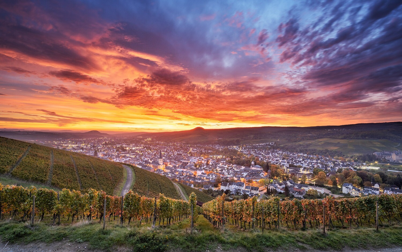 Sonnenaufgang über Ahrweiler - Leinwand