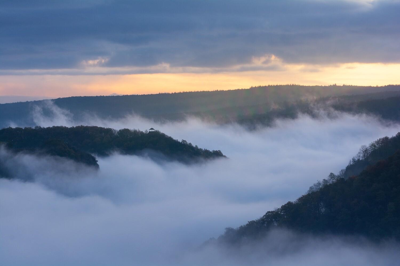 Nebel über dem Ahrtal