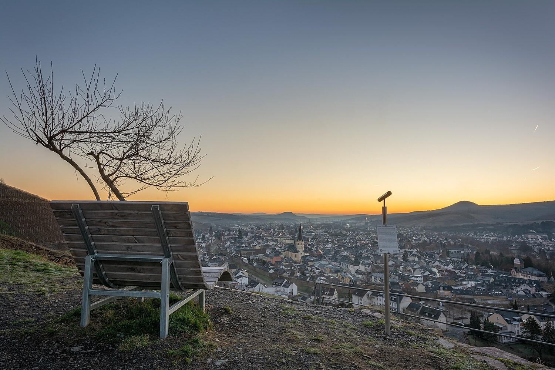 Ausblick über Ahrweiler im Frühling