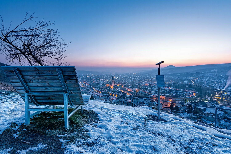 Frostiger Blick über Ahrweiler