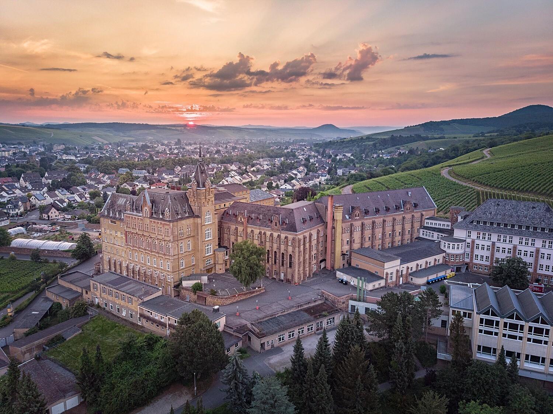 Blick auf das ehemalige Kloster Calvarienberg