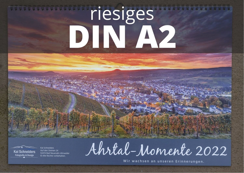 """Monatskalender """"Ahrtal Momente"""" 2022 - großes A2 Format"""
