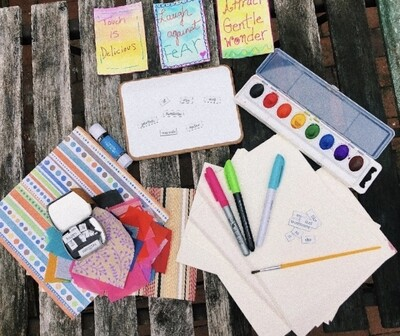 Holiday Sale: Black Friday/Cyber Monday Deal: Creative Box of Possibilities: Vision & Affirmation card supply starter kit