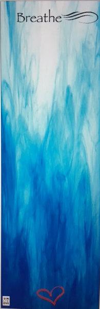 Blue & White Breathing Yoga Mat
