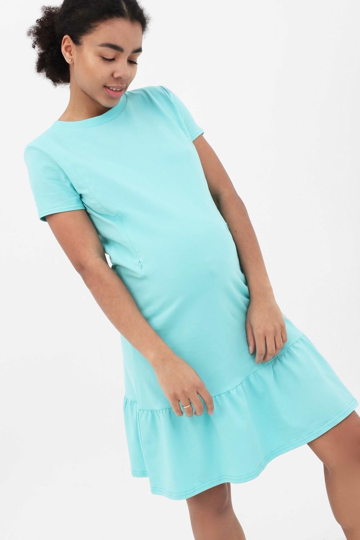 Y@mmy Mammy. Платье с воланом ментоловое, размер 46