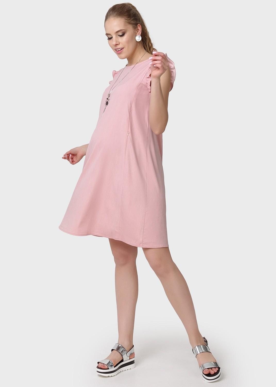 """Платье """"Морлей"""" для беременных и кормящих пудровый"""