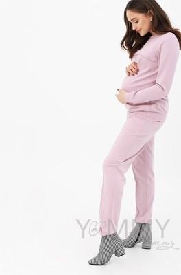 Y@mmy Mammy. Костюм из плотной вискозы пудрово-розовый: джемпер+брюки