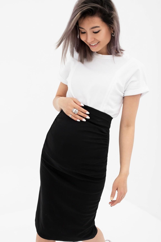 Y@mmy Mammy. Юбка для беременных и кормящих мам, цвет черный, размер 48