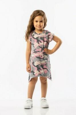 Bodo Платье, камуфляж розовый