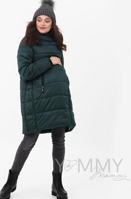 Y@mmy Mammy. Зимняя куртка 3 в 1, цвет изумруд, размер 42