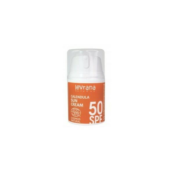 Levrana. Солнцезащитный крем для тела Календула 50 SPF, 50 мл.