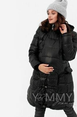 Y@mmy Mammy. Универсальное зимнее пуховое пальто 3 в 1, цвет черный, размер 44