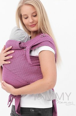 Y@mmy Mammy. Май-слинг из шарфовой ткани  Rose Agate (розовый/темно-серый)