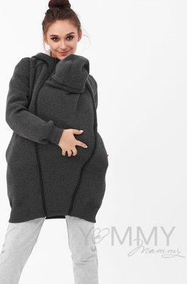 Y@mmy Mammy. Слинготолстовка темно-серый меланж, размер 46