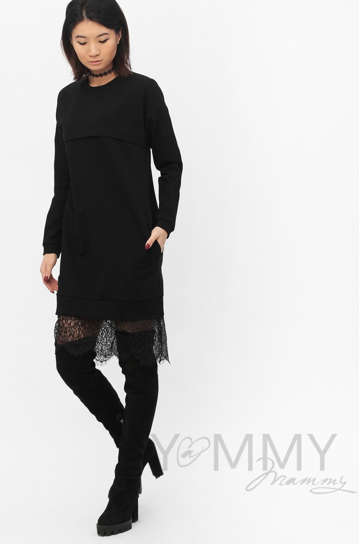 Y@mmy Mammy. Платье с кружевом черное