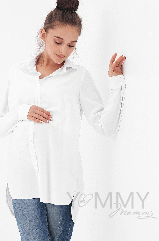 Y@mmy Mammy. Рубашка белая для кормящей мамы