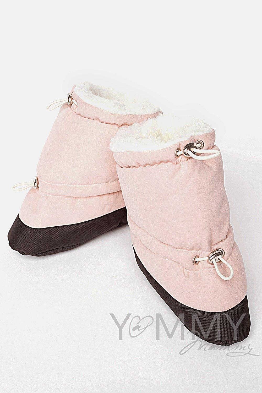 Слингопинетки пудрово-розовый/мех молочный