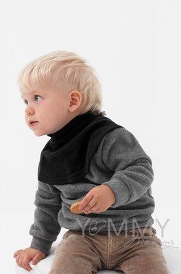 Манишка детская флисовая на липучке черная