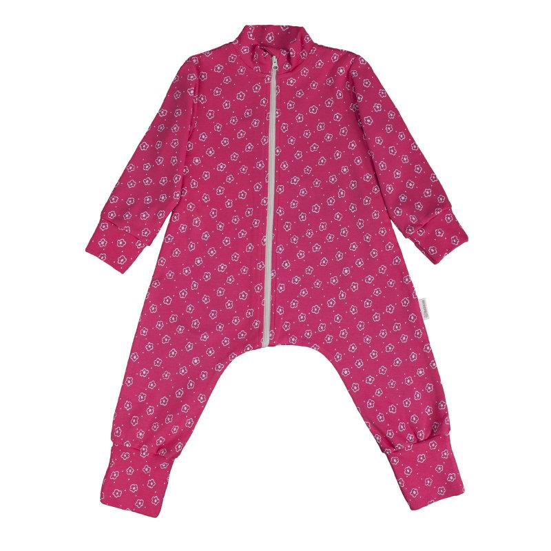 "Bambinizon. Комбинезон-пижама на молнии легкий ""Цветочный луг"""