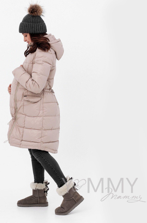 Y@mmy Mammy. Универсальное зимнее пуховое пальто 3 в 1 , цвет бежевый