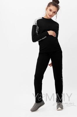 Y@mmy Mammy. Костюм черный с отделкой из велюра