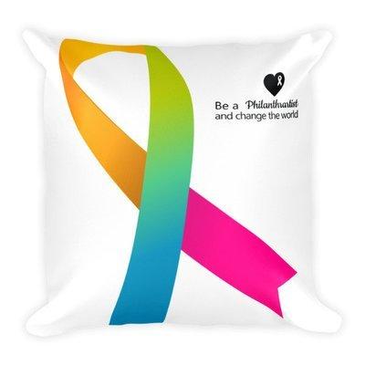 Square Pillow |Ribbon |Philanthrartist