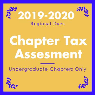 2019-2020 Undergraduate Chapter Tax Assessment