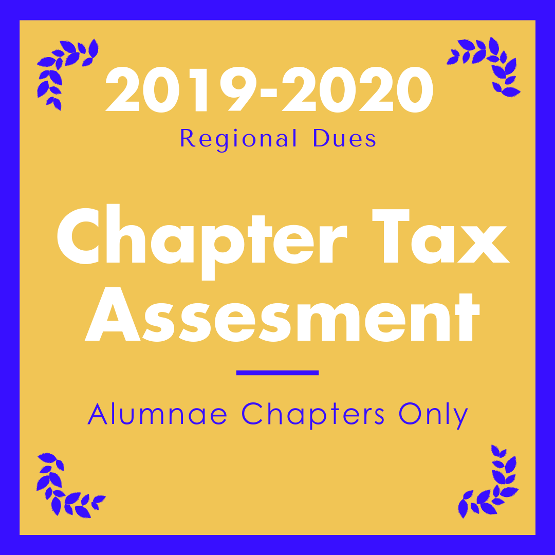 2019-2020 Alumnae Chapter Tax Assessment