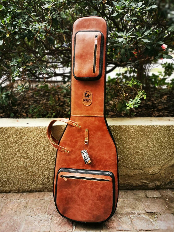 Leather Bass Gigbag (Whisky Brown)