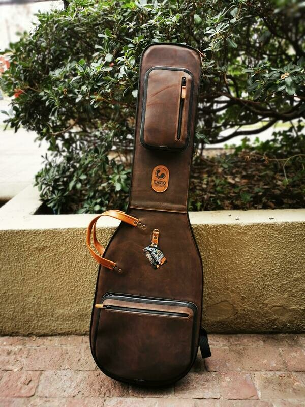 Leather Bass Gigbag (Vintage Brown)