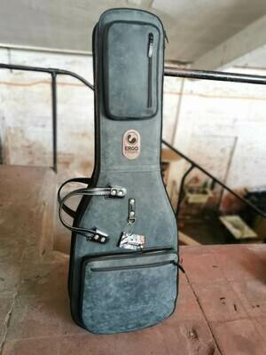 Leather Guitar Gigbag (Crackle Gray)
