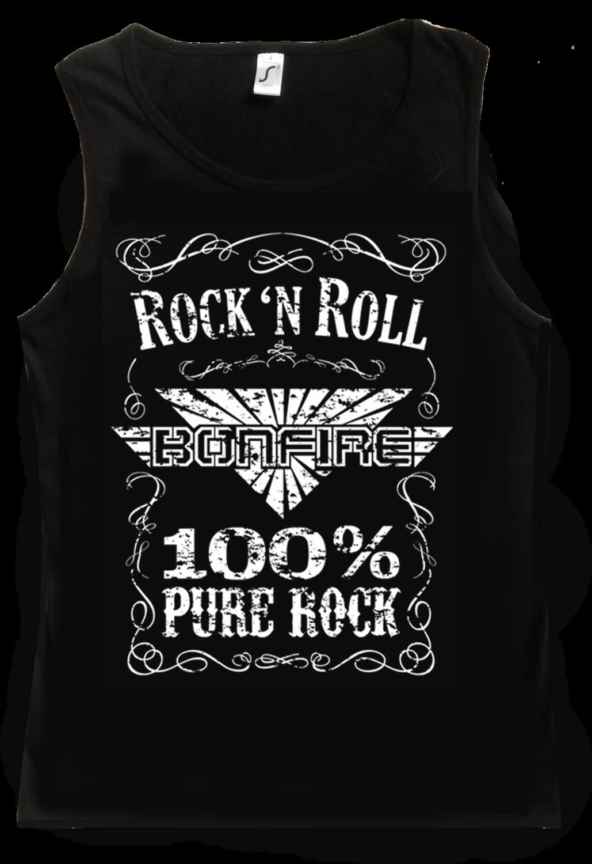 """BONFIRE Tank Top (Men) """"100% Pure Rock"""""""