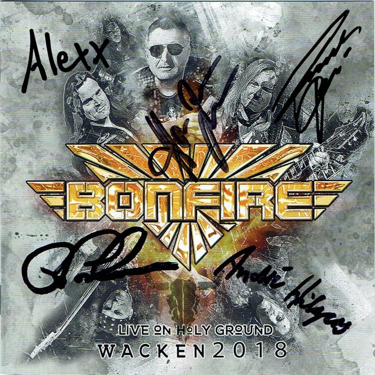 "Bonfire - CD ""Live On Holy Ground - Wacken 2018"" limited & signed"