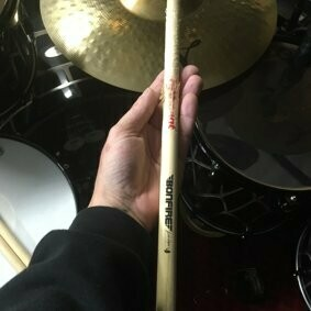 Bonfire Drummer Andre Hilgers used Drumsticks with Autograph