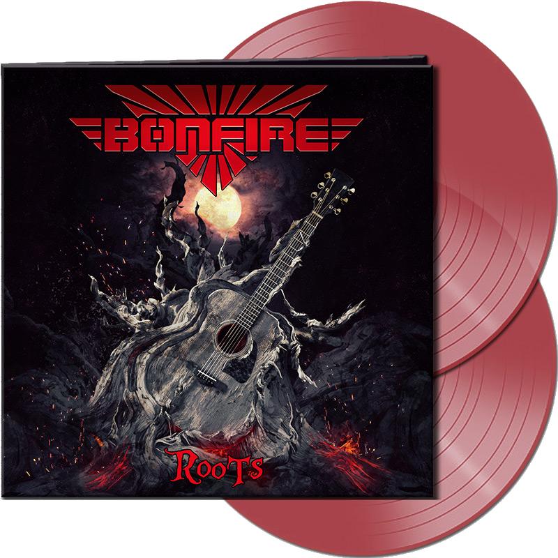 """Bonfire Unplugged Double LP (Vinyl) - """"ROOTS"""" + 1 original Hans Ziller plectrum"""