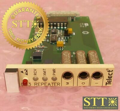 710-8401-0002 TELECT BB DS3 REPEATER MODULE T3RGMYB7AA REFURBISHED - 90 DAY WARRANTY