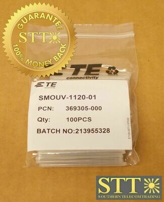 SMOUV-1120-01 COMMSCOPE/TE FIBER SPLICE HEAT SHRINK SLEEVE 100-PC 369305-000 NEW - 90 DAY WARRANTY