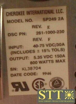261-1000-230 ALCATEL DSC MEGAHUB STP POWER SUPPLY MODEL SP249 2A ANPUARDEAA REFURBISHED - 90 DAY WARRANTY