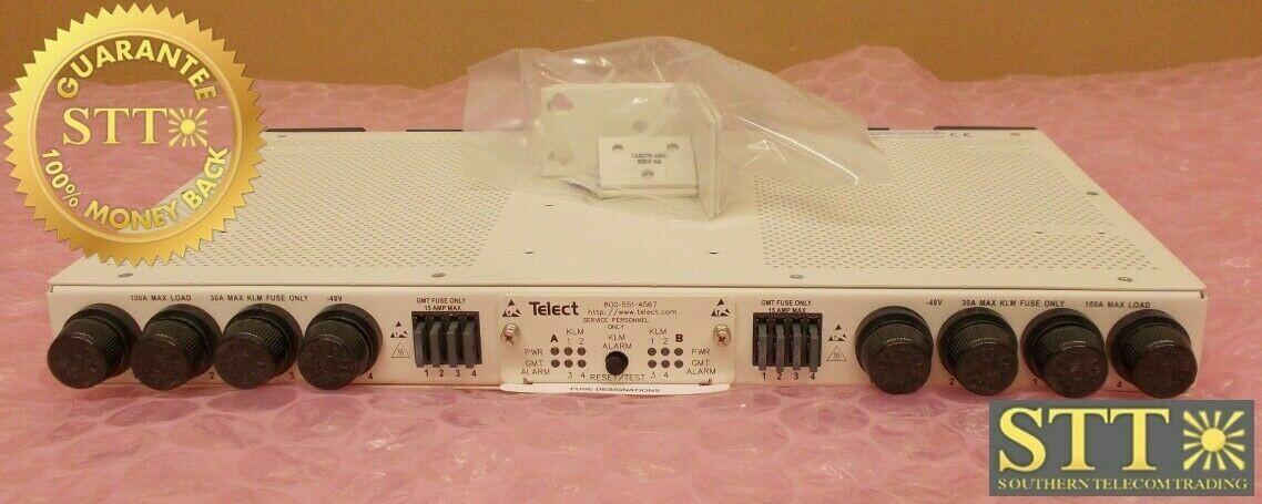 009-8004-0104 TELECT FUSE PANEL 100A DUAL FEED 4/4 KTK/GMT ±24V/-48V XCWYACHDAA -  90 DAY WARRANTY
