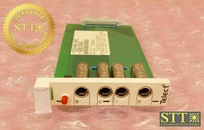 010-8401-0401 TELECT DSX-3 4 PORT MODULE T3D1CE0BAA REFURBISHED - 90 DAY WARRANTY