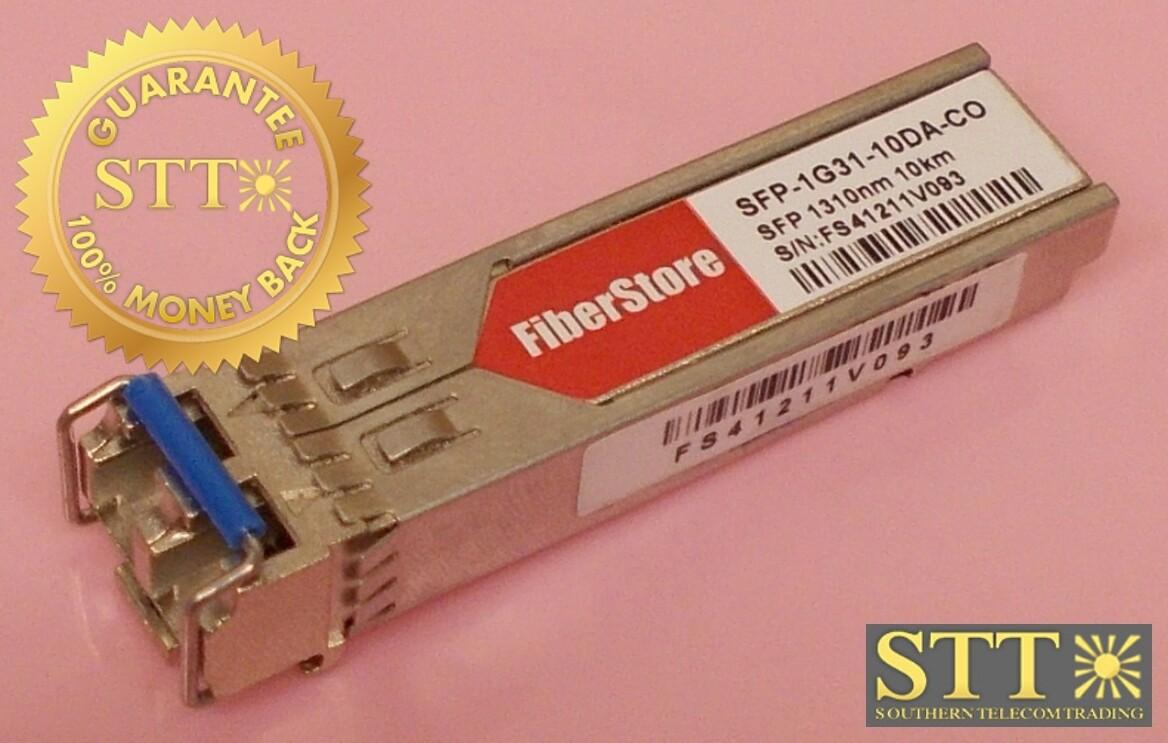 SFP-1G31-10DA-CO FIBER STORE 1000BASE-LX/LH SFP 1310NM 10KM EXT DDM TRANSCEIVER REF - 90 DAY WARRANTY