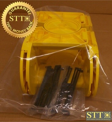 027-0000-4000 TELECT 4X4 CABLELINK YELLOW (SET OF 2) NEW - 90 DAY WARRANTY