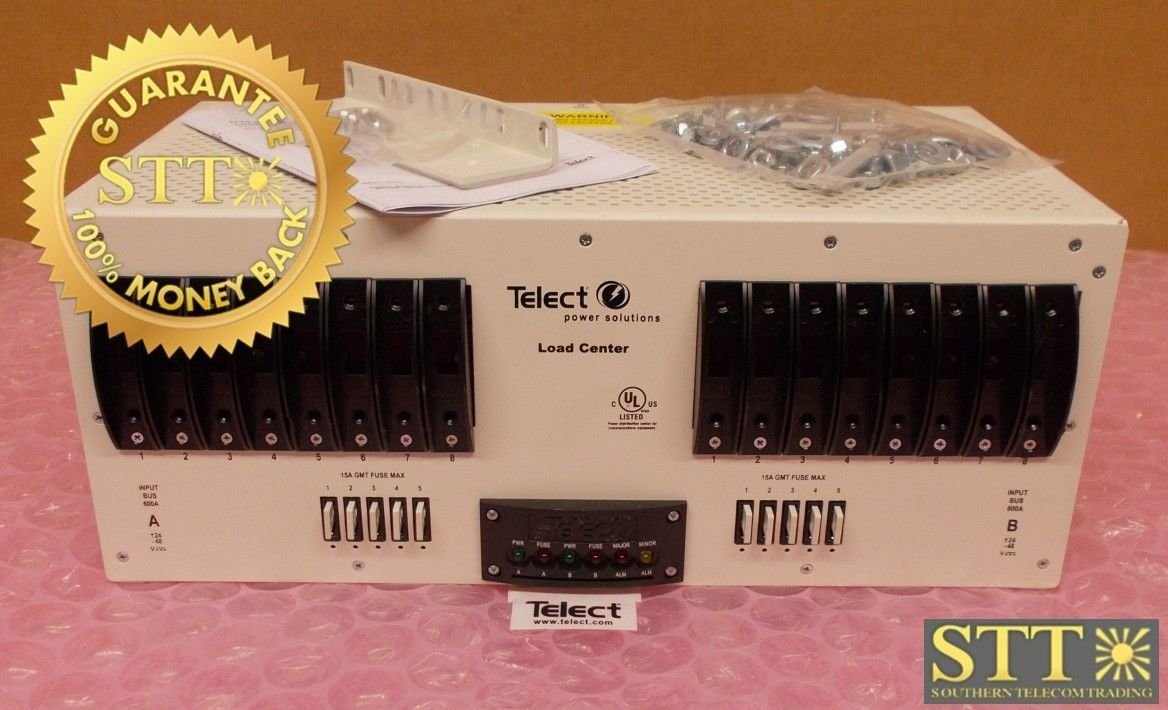 600CB08 TELECT FUSE PANEL 600A DUAL-FEED 8/5 CIRCUIT BREAKER/GMT REFURBISHED - 90 DAY WARRANTY