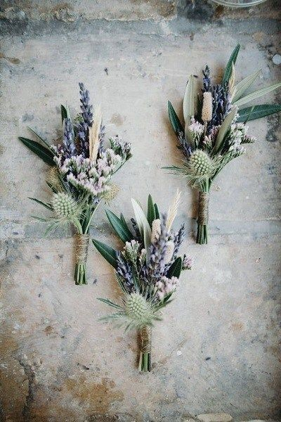 Gasten corsages Lavendel