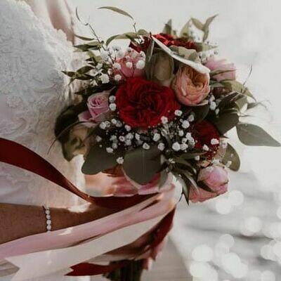 Bruidsboeket Elegant Burgundy
